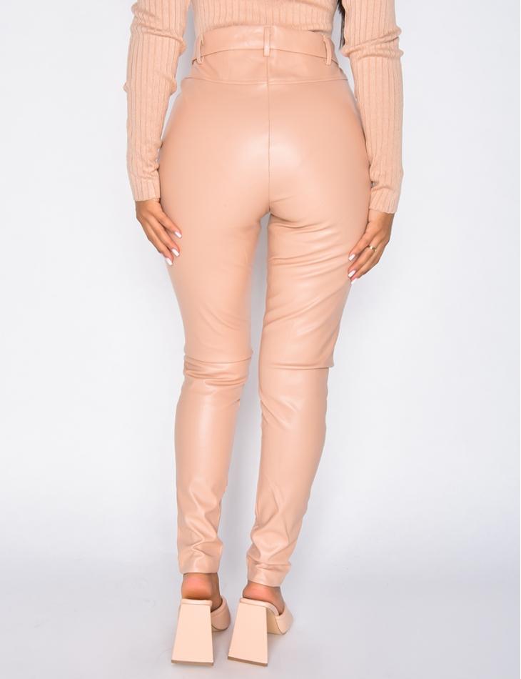 Pantalon skinny en similicuir