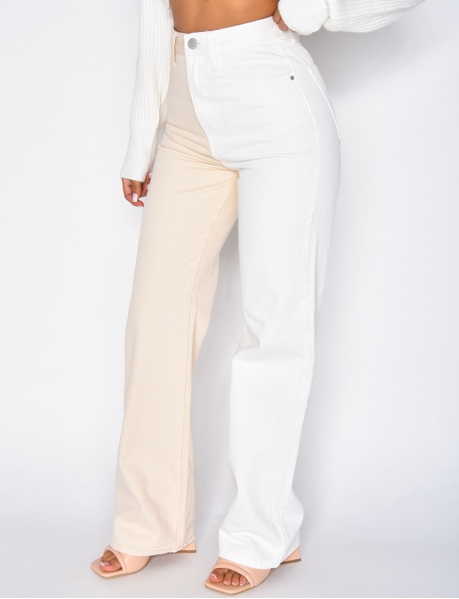Jeans bi-color large