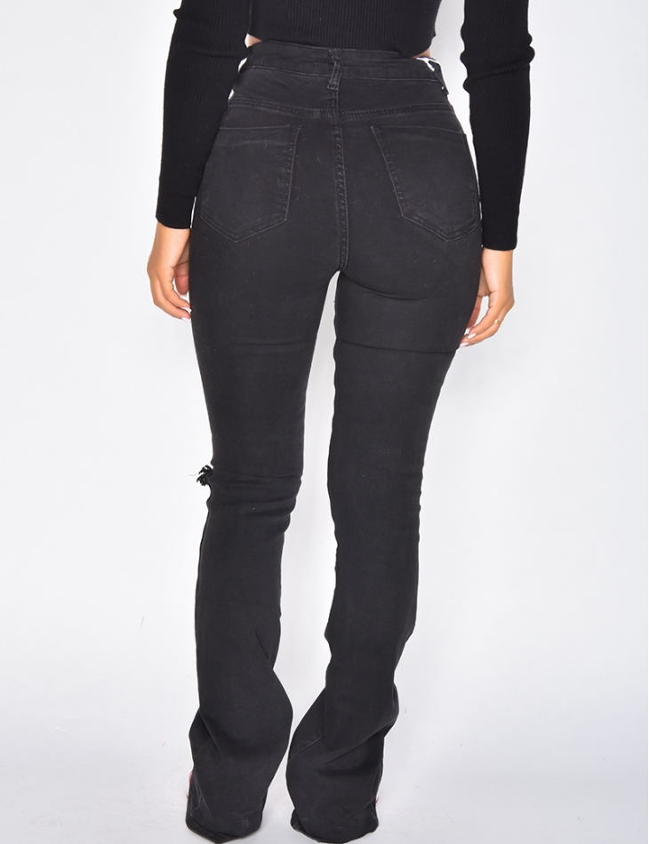 Jeans destroy patte d'eph