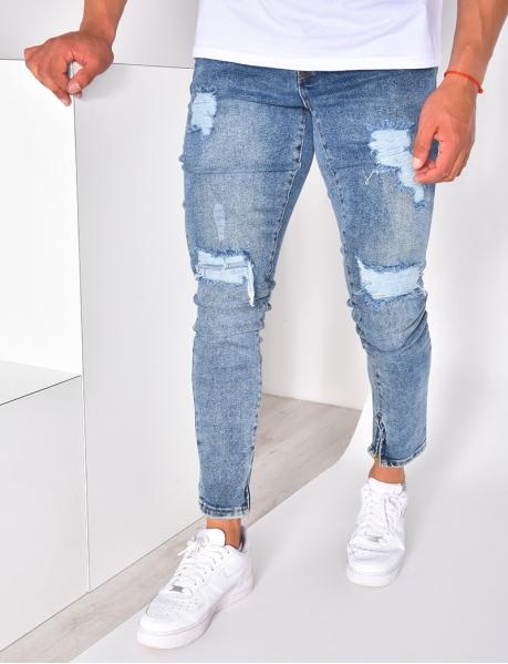 Jeans homme destroy