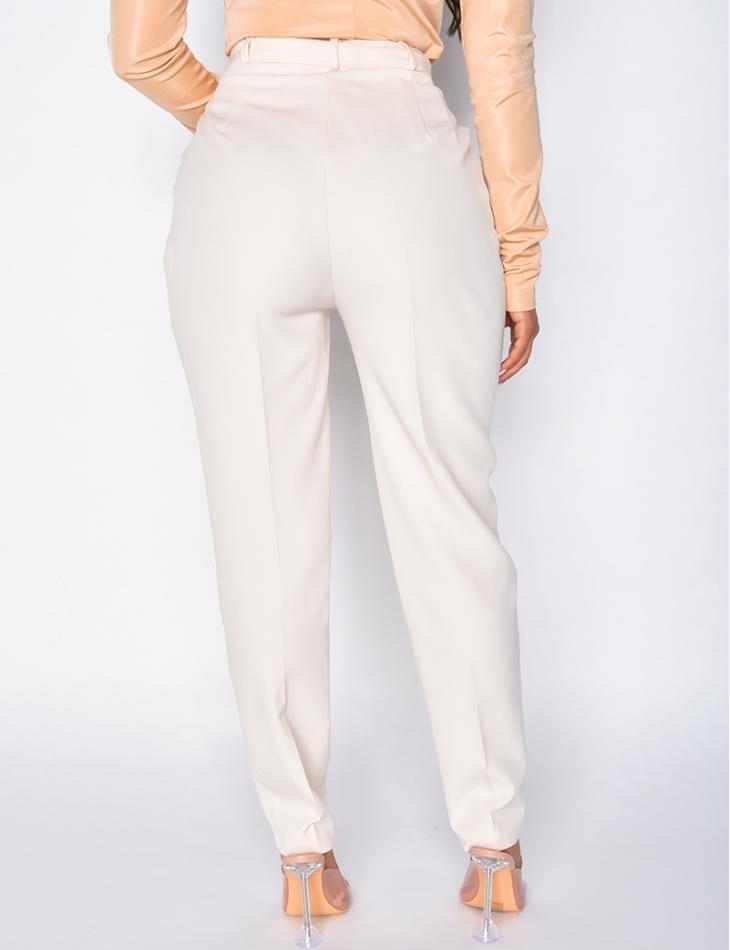Pantalon de tailleur coupe droite
