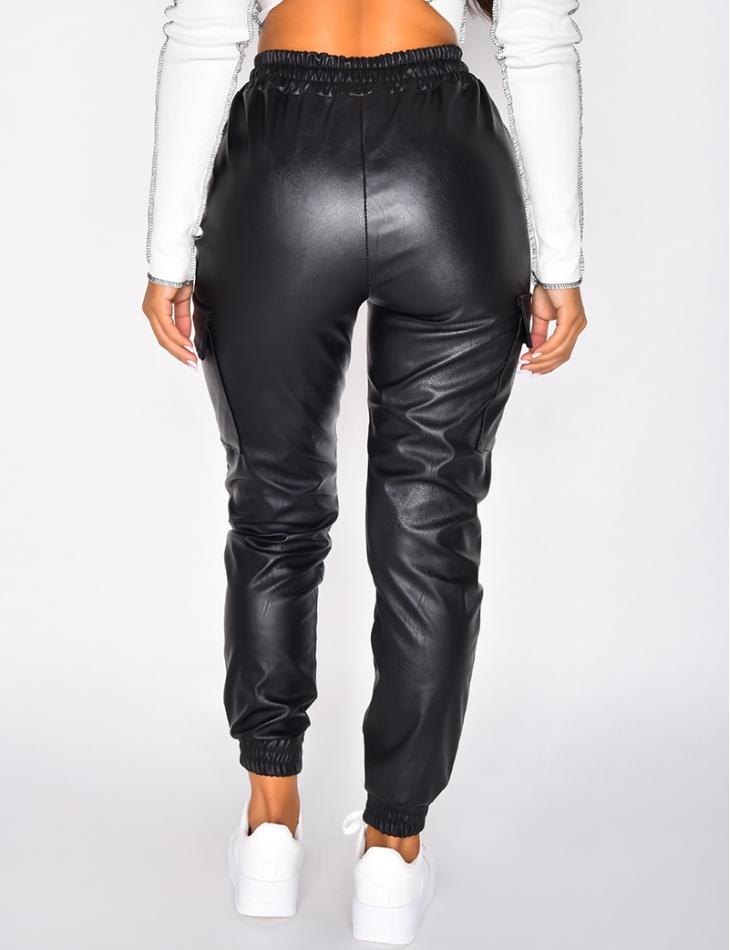 Pantalon de jogging style cargo à poches