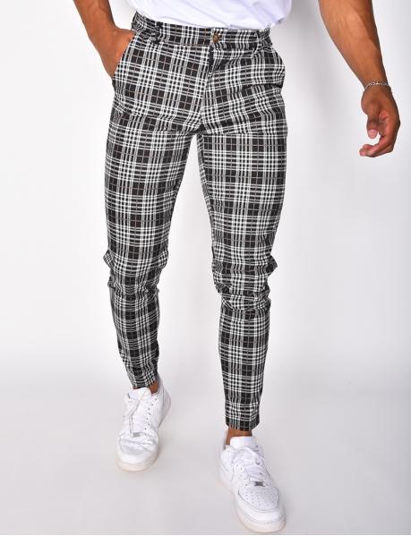 Pantalon épais à carreaux
