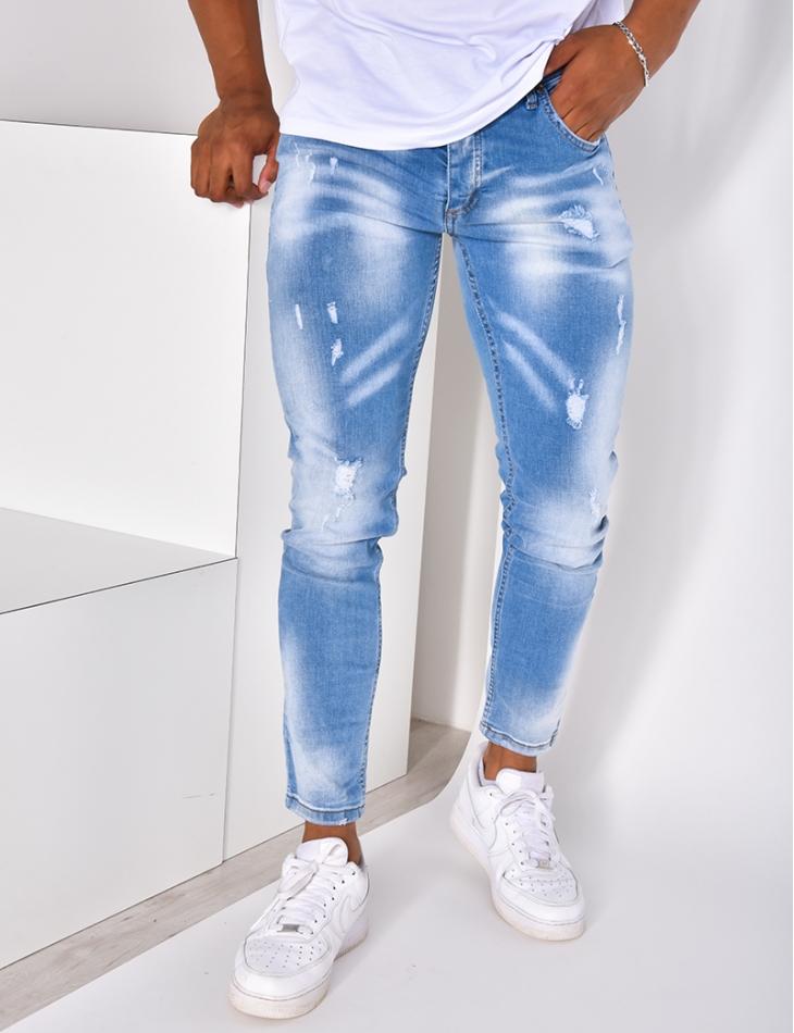 Jeans destroy à nuance