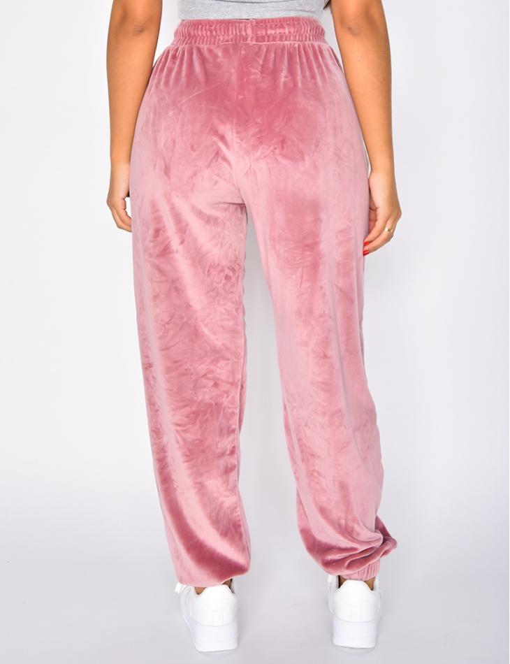 Pantalon de jogging tout doux en velours
