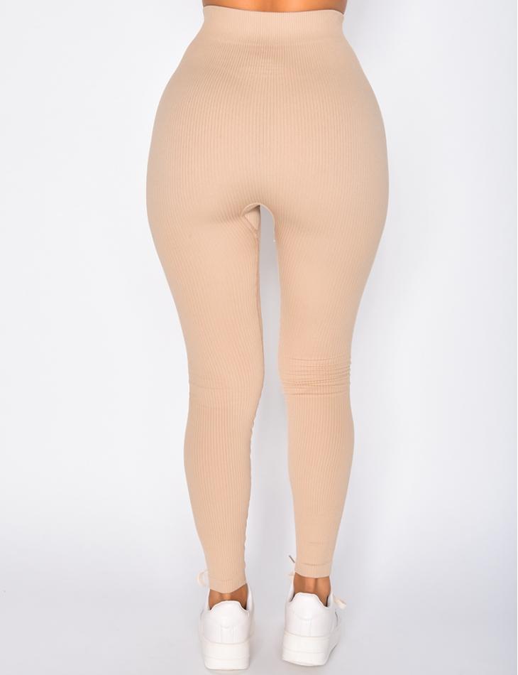 Legging côtelé moulant