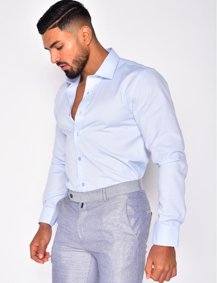 Chemise texturée homme
