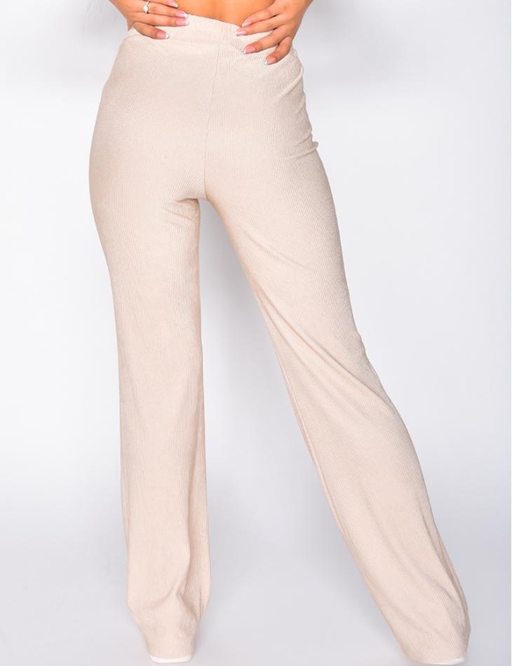 Pantalon côtelé fluide
