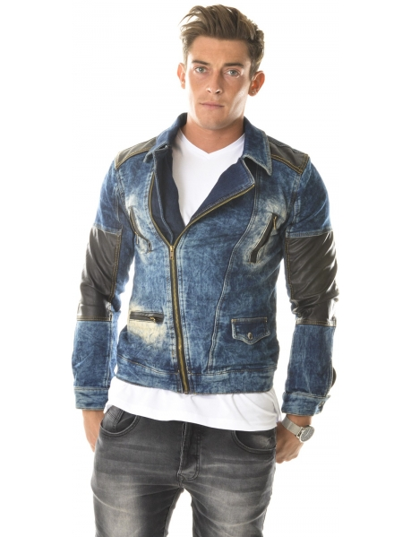 Veste en Jeans Exclusive asymétrique