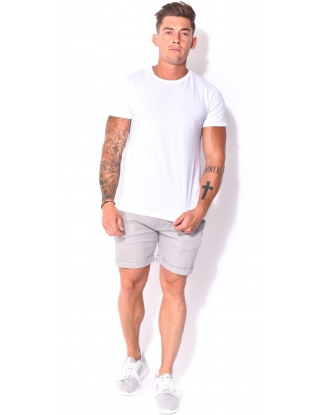 Bermuda homme chino gris