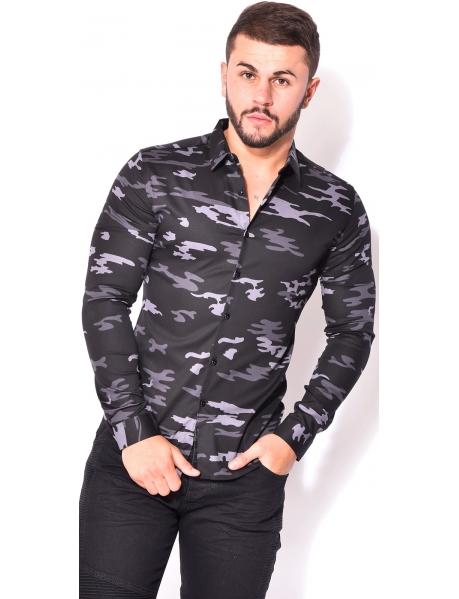 Men's Slim-fit Camouflage Shirt